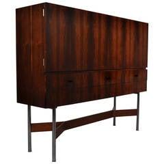 Rosewood High Bar Cabinet by Rudolf Glatzel for Fristho, circa 1960