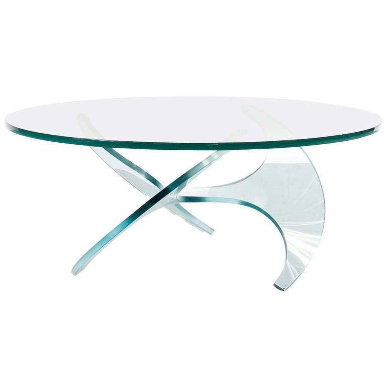 Propeller Coffee Table by Knut Hesterberg for Ronald Schmidt, 1960s