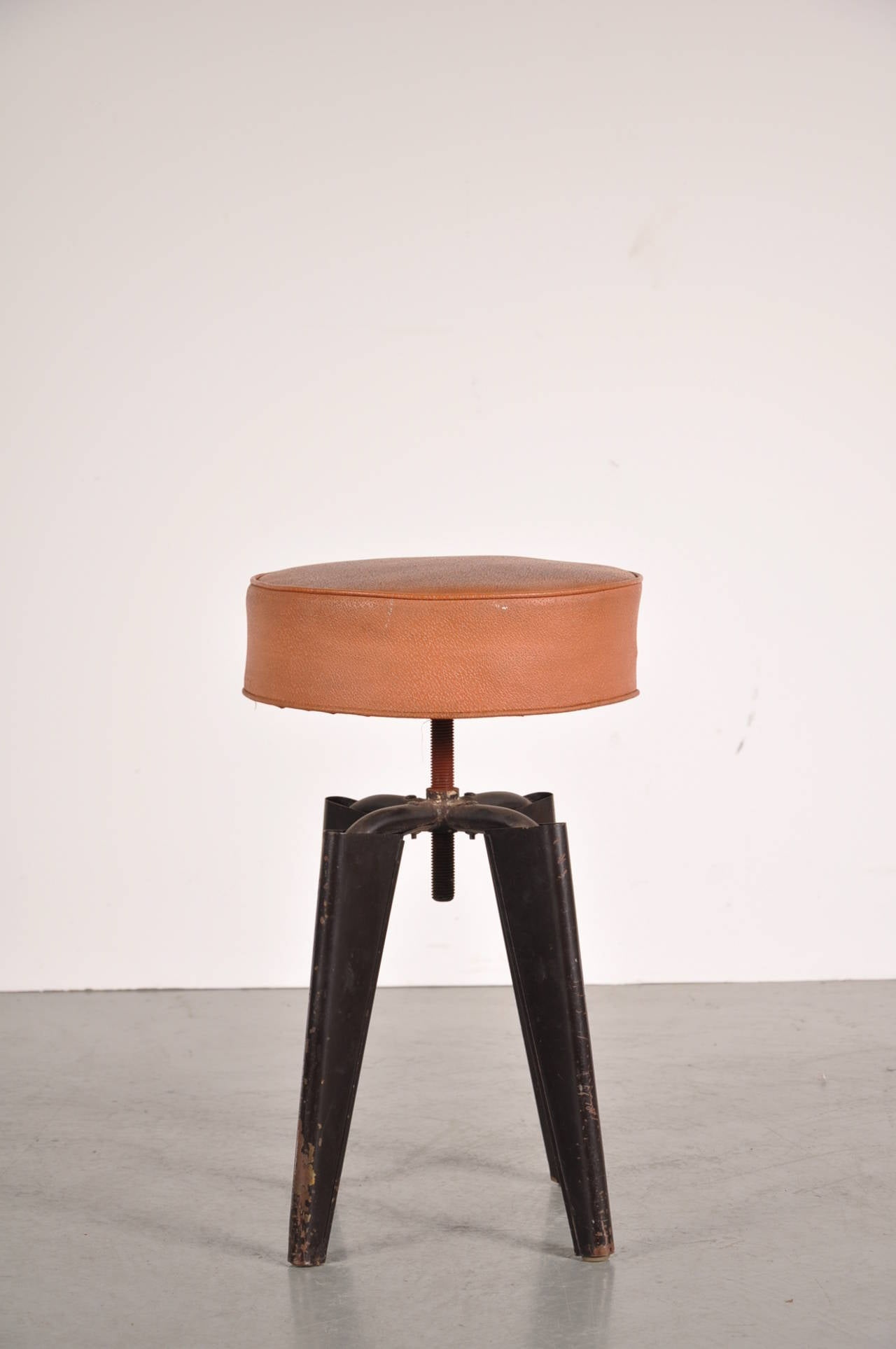 Adjustable Quot Clemenceau Quot Stool By Dominique Circa 1960 For