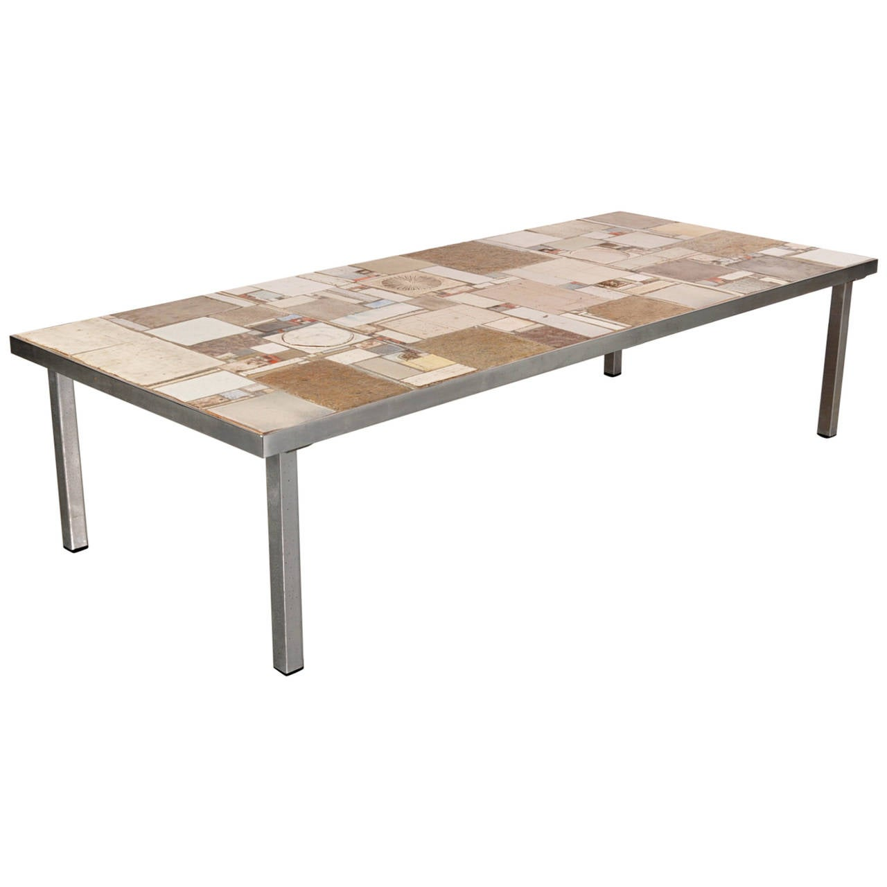Large coffee table by pia manu circa 1960 at 1stdibs Wide coffee table