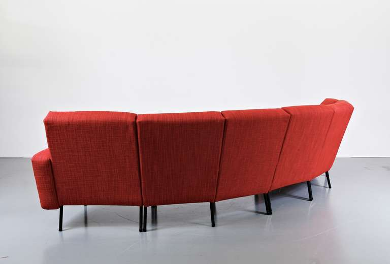 Rare Pierre Guariche Large Sofa For Airborne For Sale At