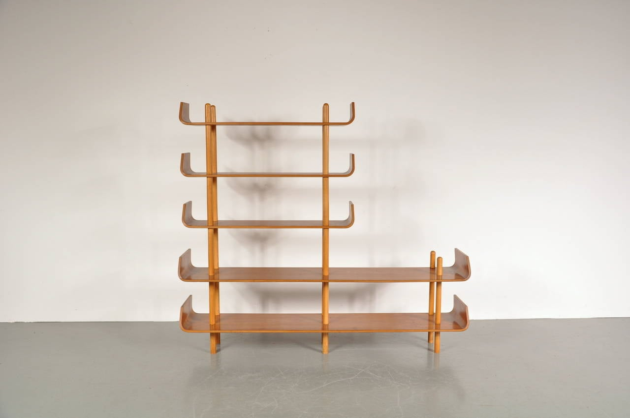 Bookcase by Willem Lutjens for De Boer Gouda, 1953 3