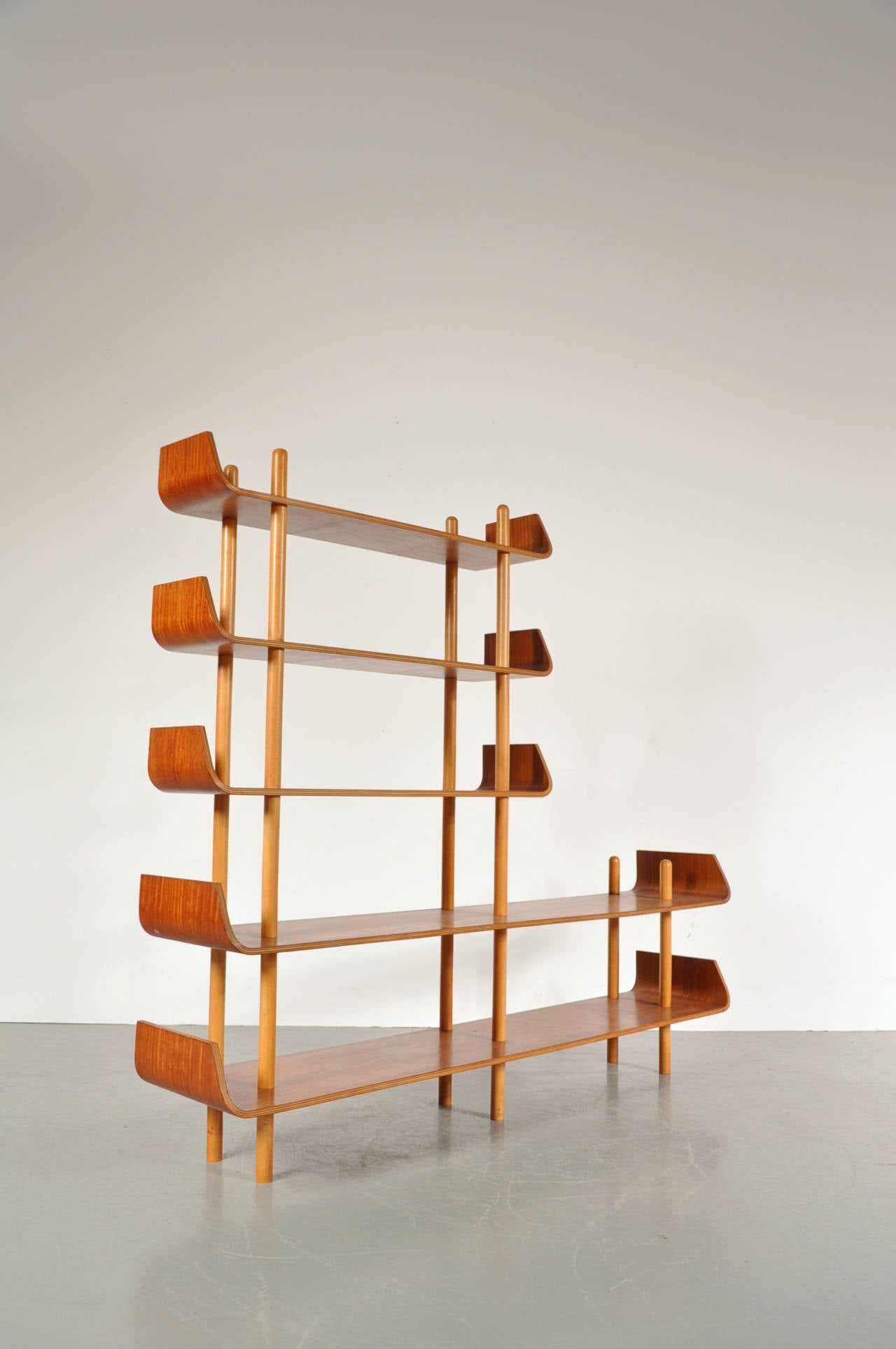 Bookcase by Willem Lutjens for De Boer Gouda, 1953 4
