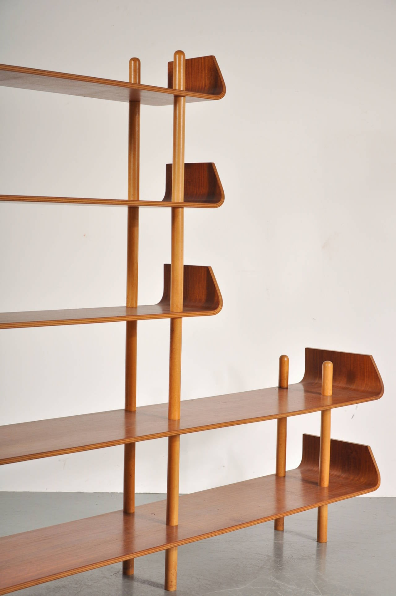 Bookcase by Willem Lutjens for De Boer Gouda, 1953 5