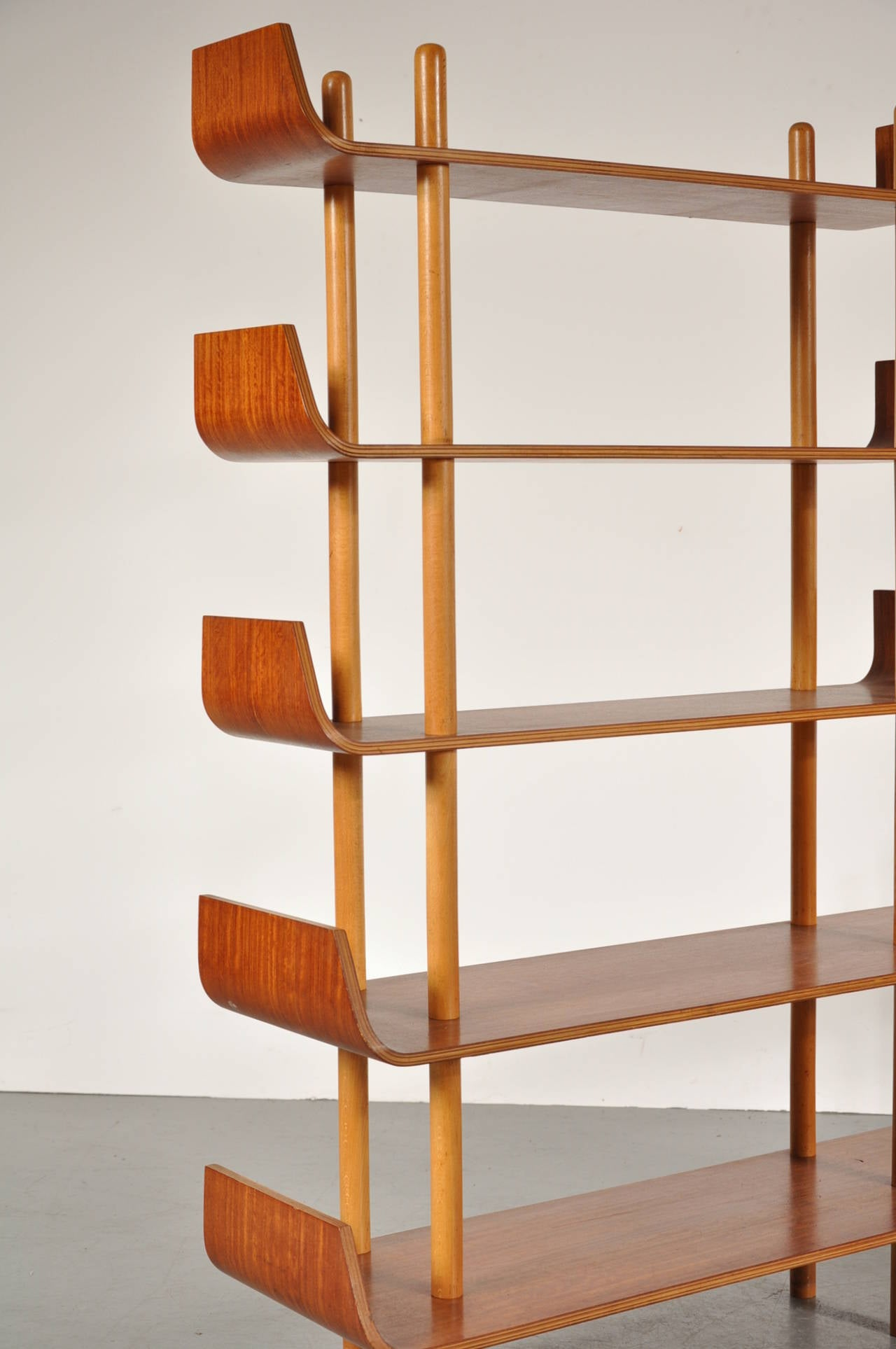 Bookcase by Willem Lutjens for De Boer Gouda, 1953 6