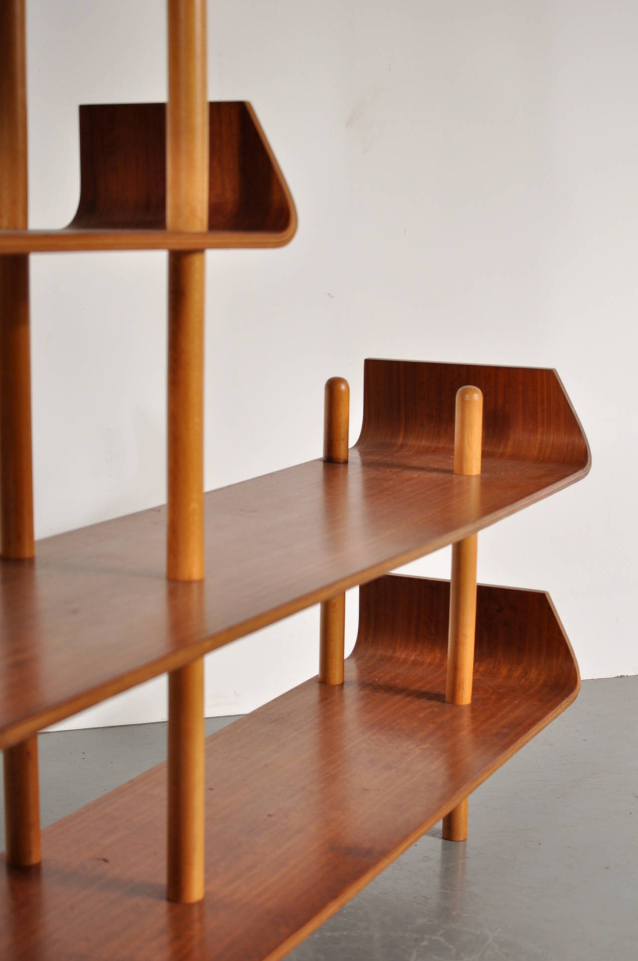 Bookcase by Willem Lutjens for De Boer Gouda, 1953 8