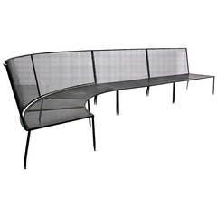 Rare Sofa by Mathieu Matégot for Ateliers Matégot, France, circa 1950