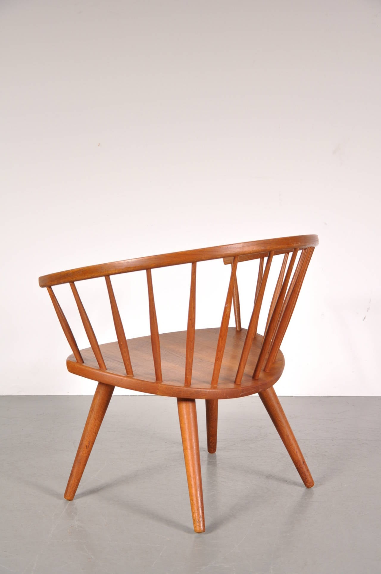 "Oak Easy Chair by Yngve Ekström Model ""Arka "" circa 1950 For Sale"