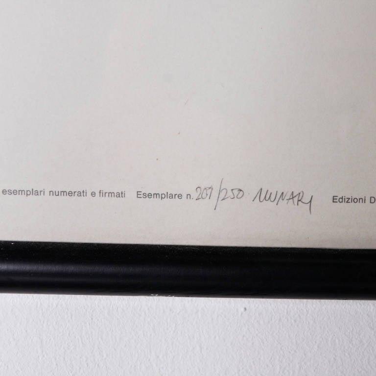 Bruno Munari Negativo Positivo Set of Six Screen Prints Hand Signed, 1955 5