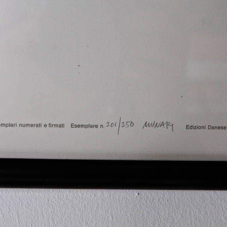 Bruno Munari Negativo Positivo Set of Six Screen Prints Hand Signed, 1955 3