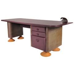Rare Memphis Style Desk, circa 1980