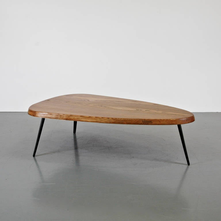 charlotte perriand and jean prouv free form coffee table circa 1950 for sale at 1stdibs. Black Bedroom Furniture Sets. Home Design Ideas