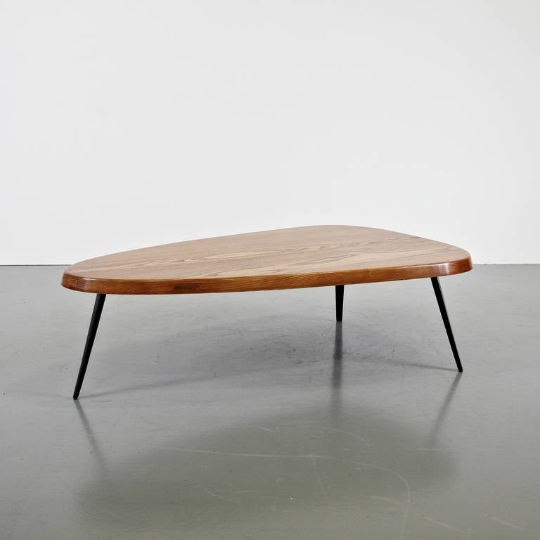 charlotte perriand and jean prouv free form coffee table circa 1950 at 1stdibs. Black Bedroom Furniture Sets. Home Design Ideas