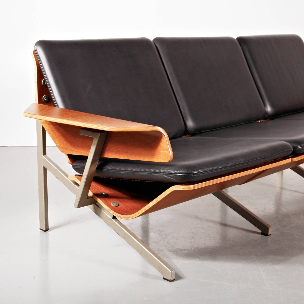Rare Cornelis Zitman Three-Seat Leather Sofa, 1964 For Sale 1