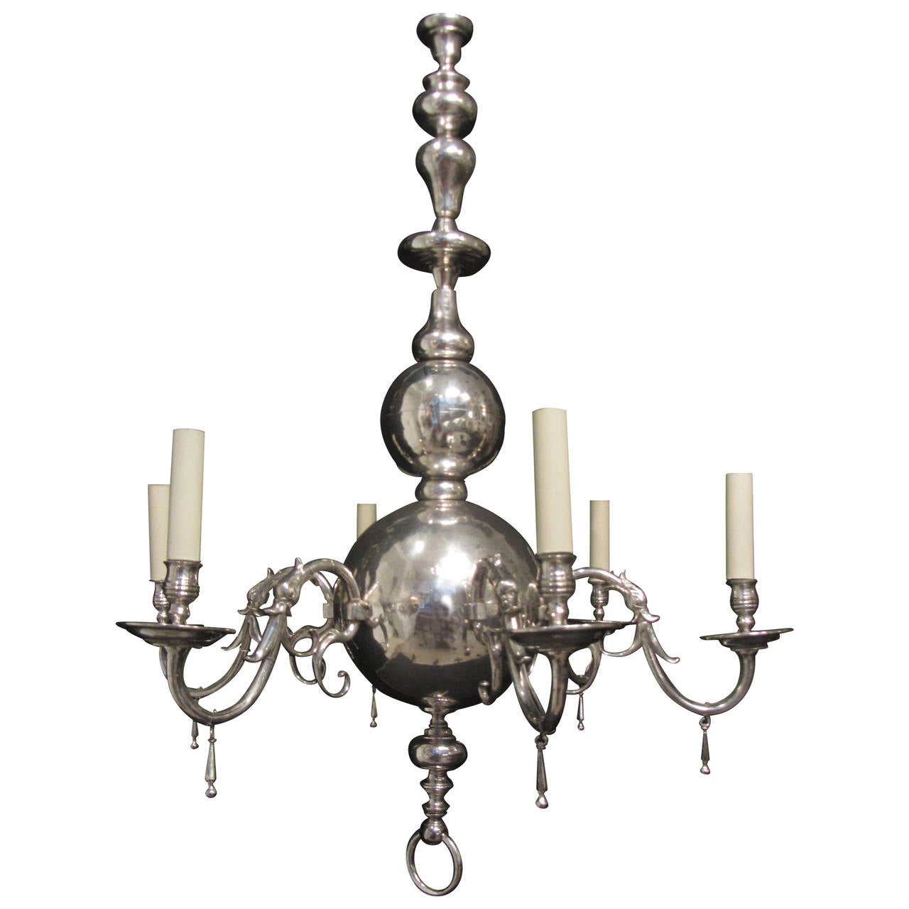 unusual dutch silvered brass orb chandelier is no longer available