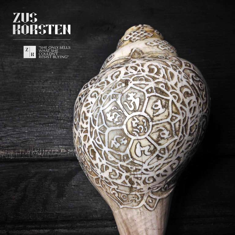 Carved Sea Shells from Tibet also known as Dung-Dkar For Sale 2