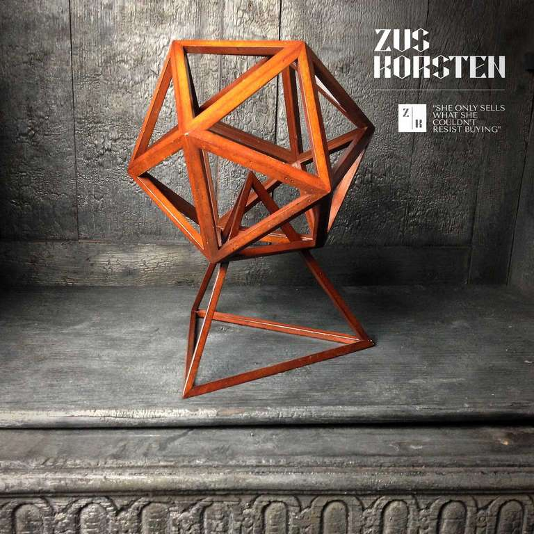 Mid-20th Century Geometric Wooden Structures