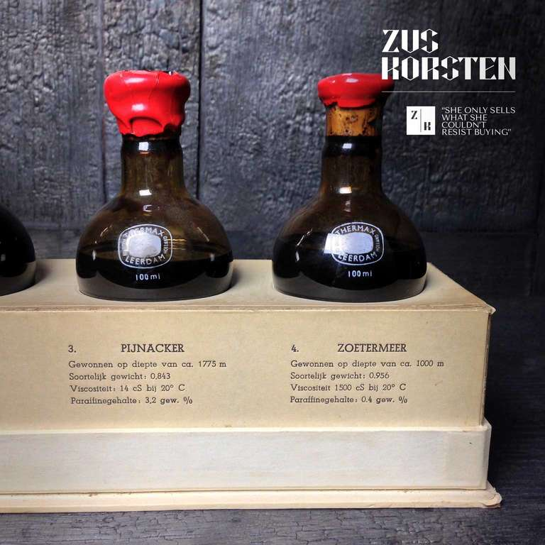 Cork Vintage Oil Samples from the Netherlands For Sale