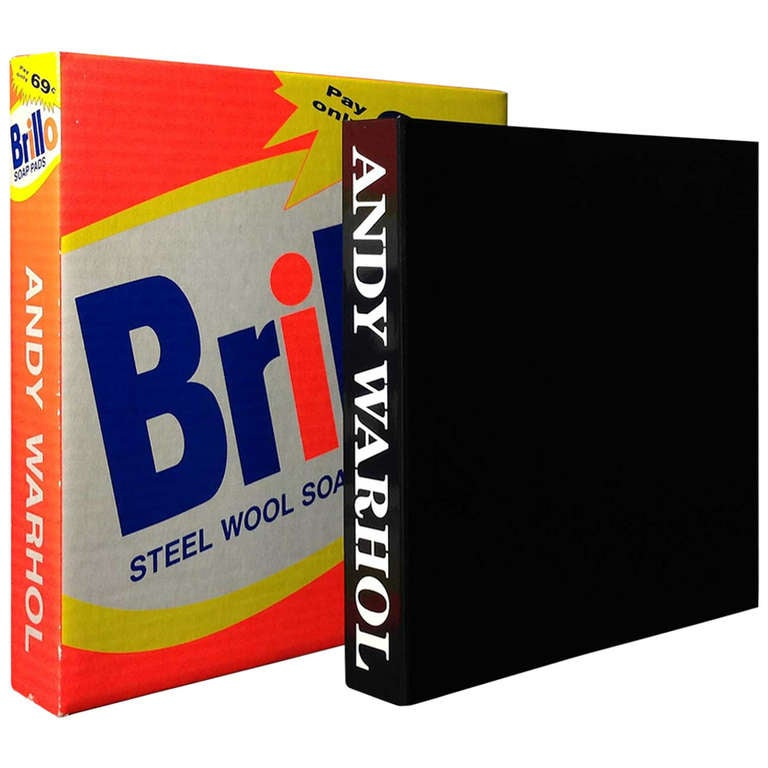 Rare Andy Warhol Catalog in Brillo Box For Sale