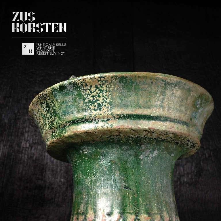 Han Dynasty Green-Glazed Red Pottery 'Hu' Jar For Sale 2