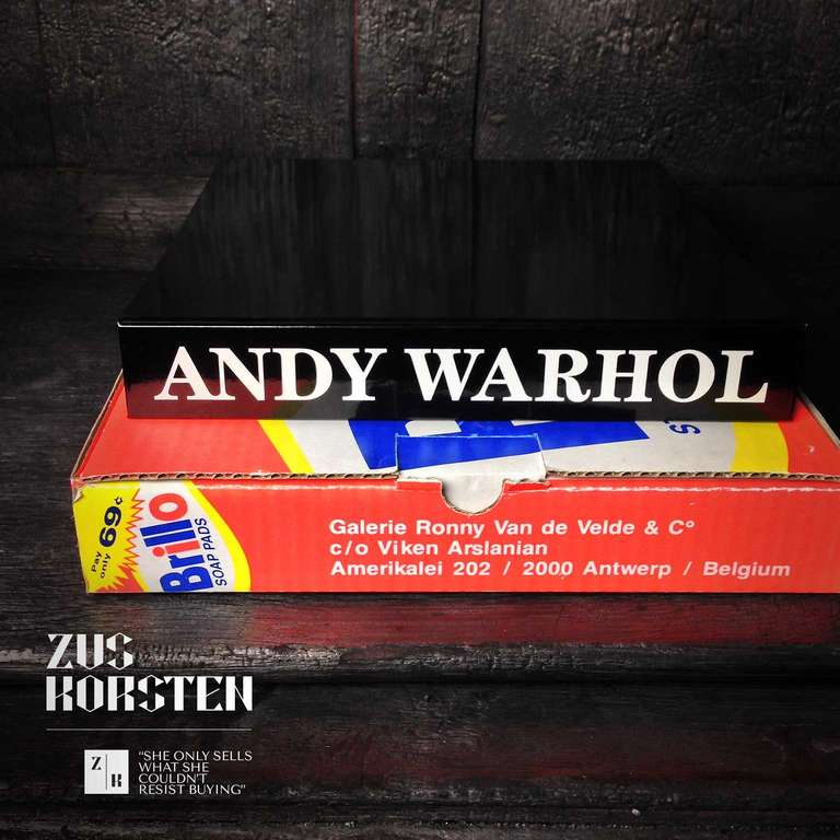 Rare Andy Warhol Catalog in Brillo Box For Sale 2