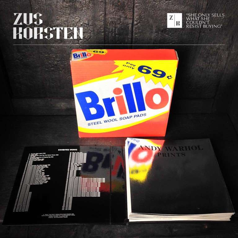 Swedish Rare Andy Warhol Catalog in Brillo Box For Sale