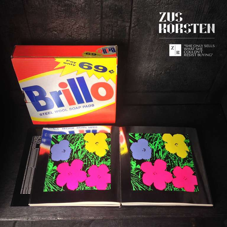 20th Century Rare Andy Warhol Catalog in Brillo Box For Sale