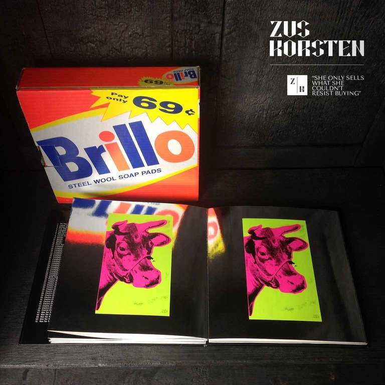 Paper Rare Andy Warhol Catalog in Brillo Box For Sale