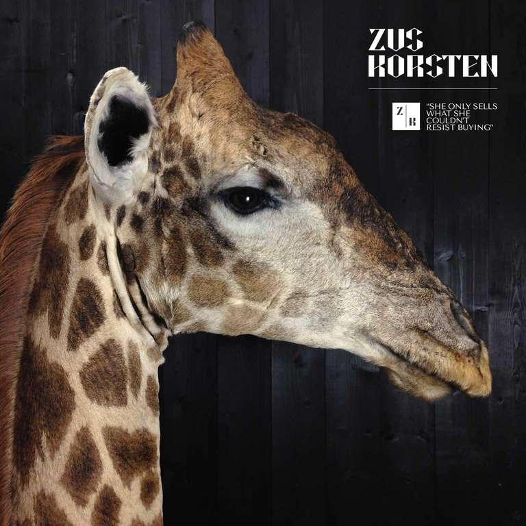 Giraffe 3 4 Neck Mount At 1stdibs