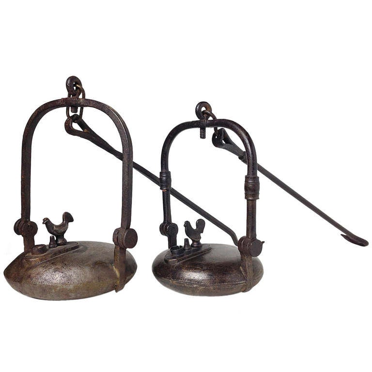Set of Weavers or Rooster Lamps
