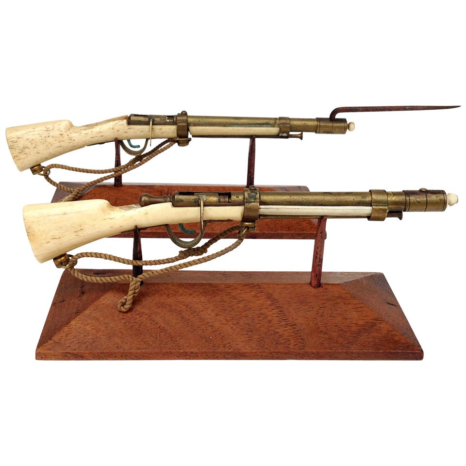 Set of Miniature Rifles Trench Art from WW1