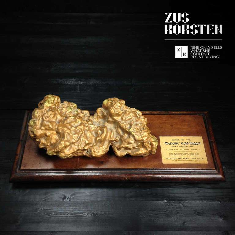 """""""Welcome,"""" Gold Nugget Model At 1stdibs"""