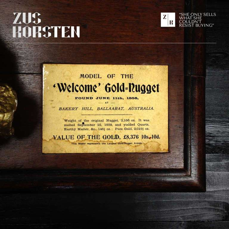 """""""Welcome,"""" Gold Nugget Model For Sale At 1stdibs"""