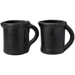 Rare Set of 18th Century English Leather Black Jacks or Tankards
