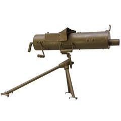 Early 20th Century Military Training Machine Gun