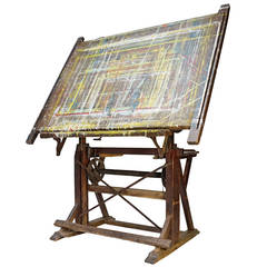 20th c. Jacques Nassheuer Drafting or Drawing Table from France