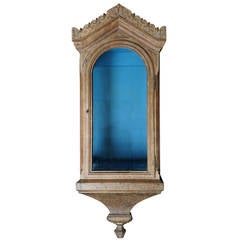 Large Early 19th Century Wall Display Cabinet
