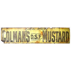 1920s Large Enamel Advertising Tin Sign Colman's Mustard
