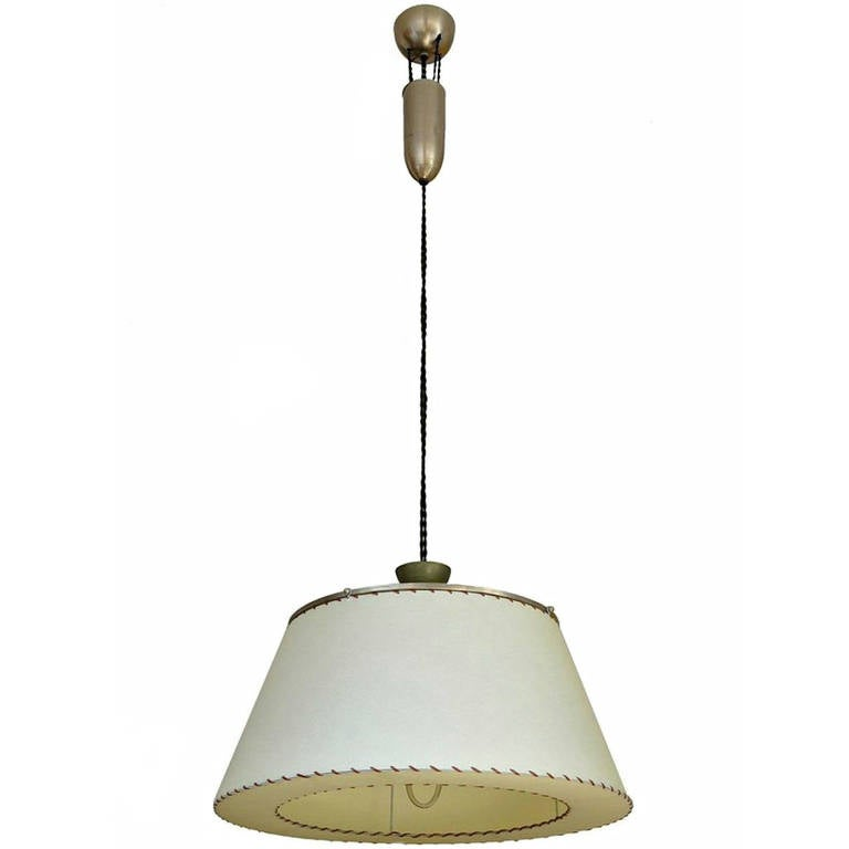 Early 20th Century Counter Weight Pull Lamp At 1stdibs