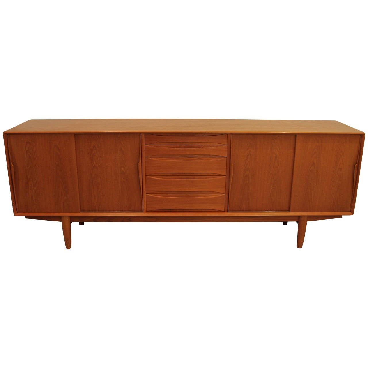 arne vodder teak sideboard at 1stdibs. Black Bedroom Furniture Sets. Home Design Ideas