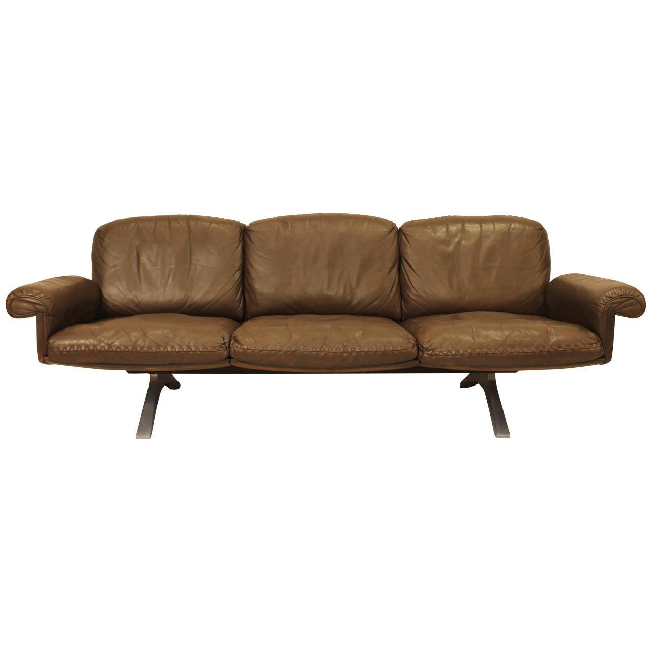 De Sede Chocolate Brown Sofa At 1stdibs