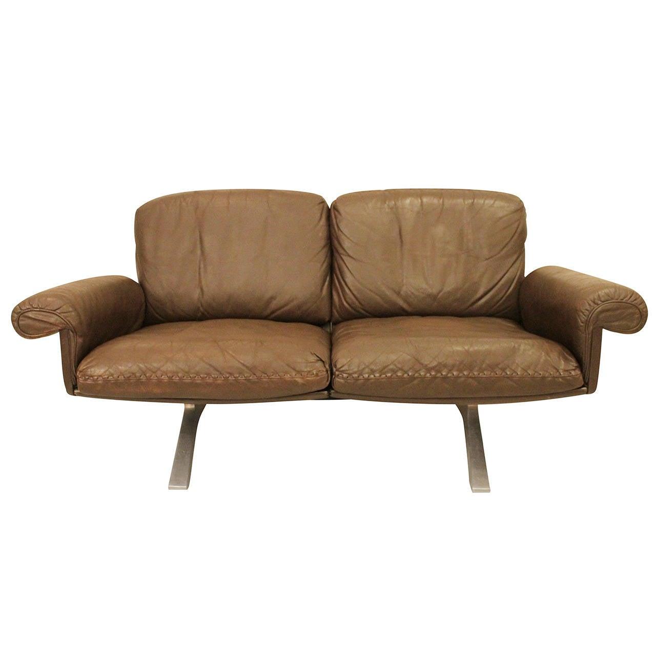 De Sede 2 Seater Sofa Chocolate Brown At 1stdibs