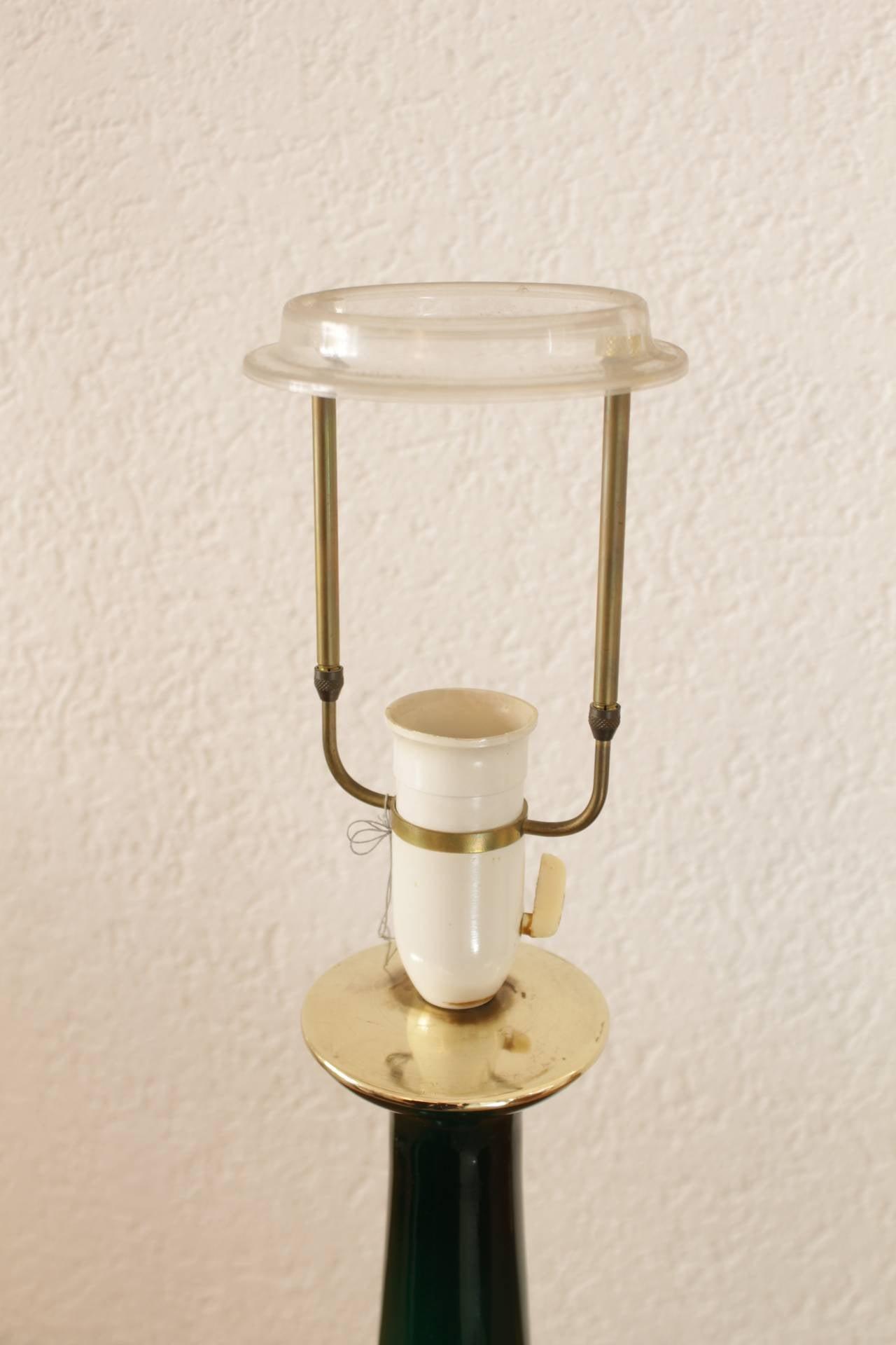 green glass bottle lamp base by holmegaard at 1stdibs. Black Bedroom Furniture Sets. Home Design Ideas