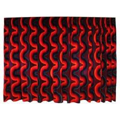 Verner Panton Curve Mira X Velvet Curtains