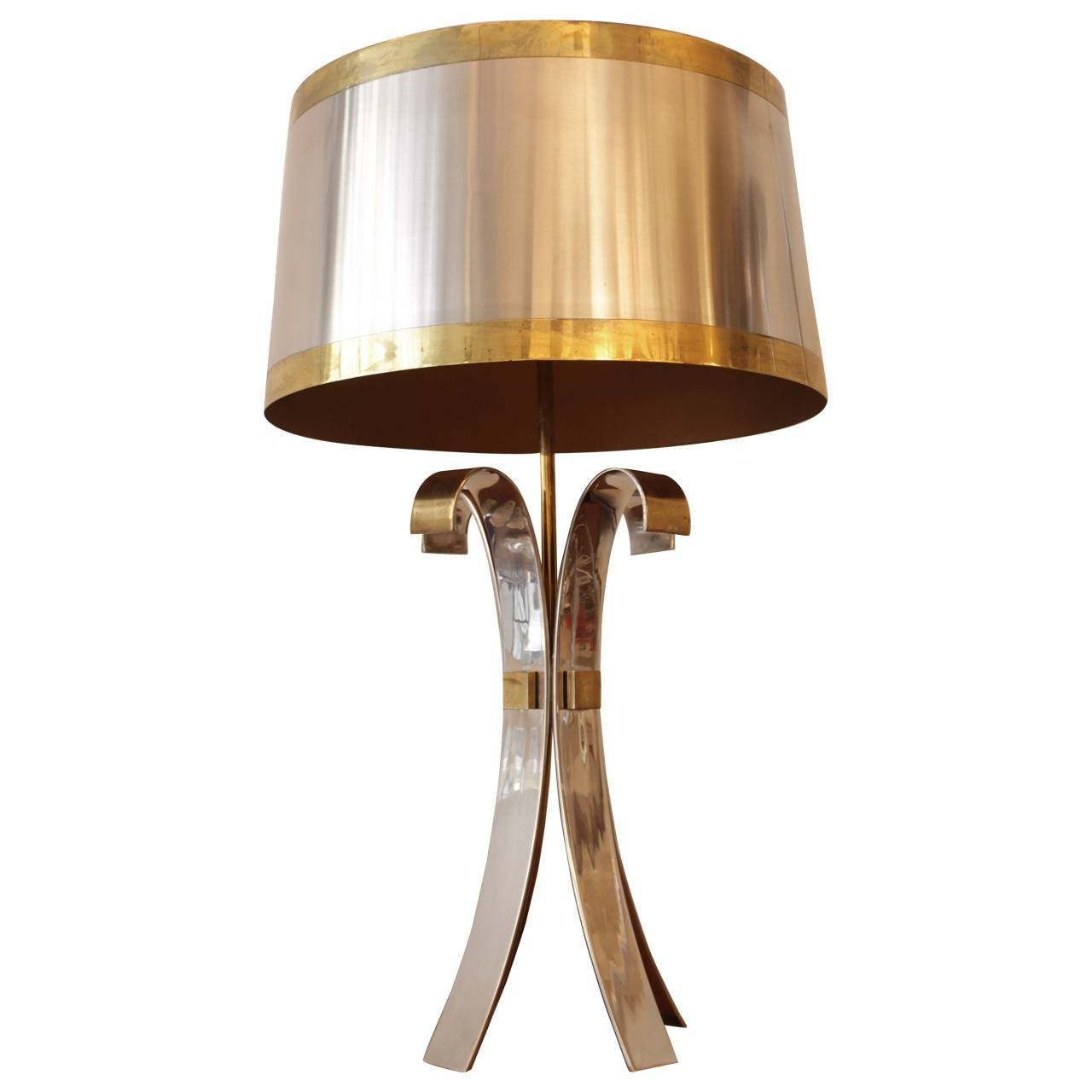 """Signed Maison Charles """"Corolle"""" Table Lamp, 1970s"""