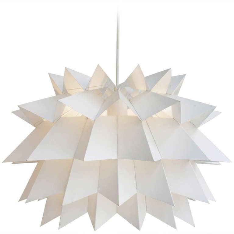 "Rare Anton Fog Holm ""Starlight"" Metal Hanging Lamp"