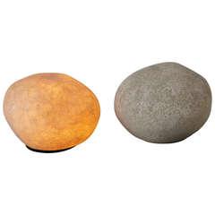 André Cazenave Pair of Lighting Rocks