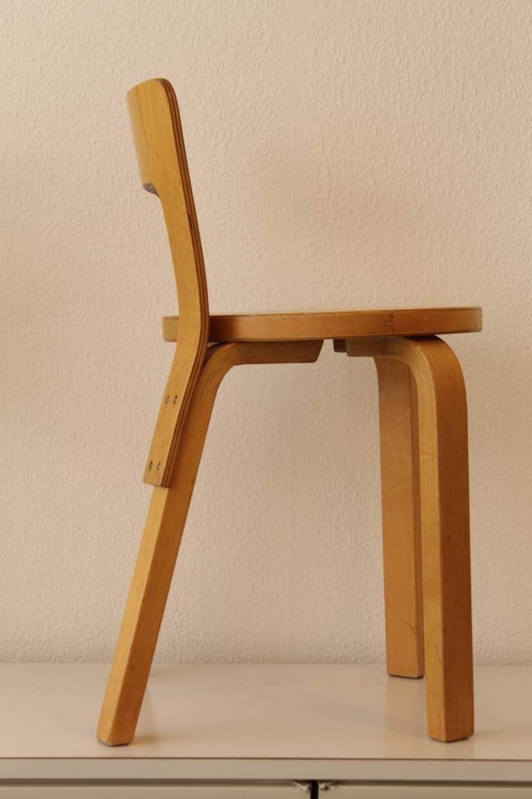 Alvar aalto low back chair 65 by artek at 1stdibs for Alvar aalto chaise