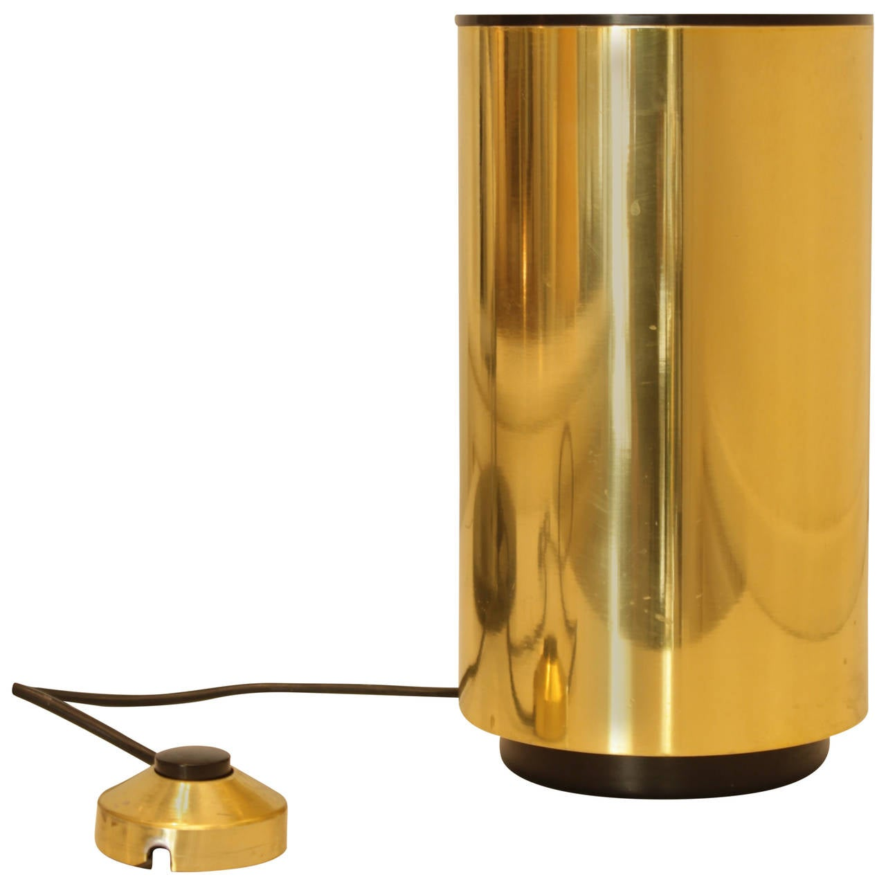Brass cylinder floor lamp italy at 1stdibs for Floor lamp with cylinder shade