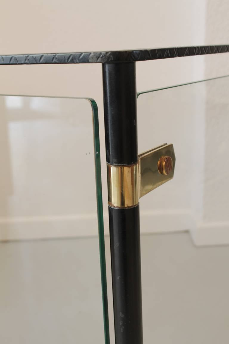 Iron Brass And Glass Corner Fire Screen For Sale At 1stdibs